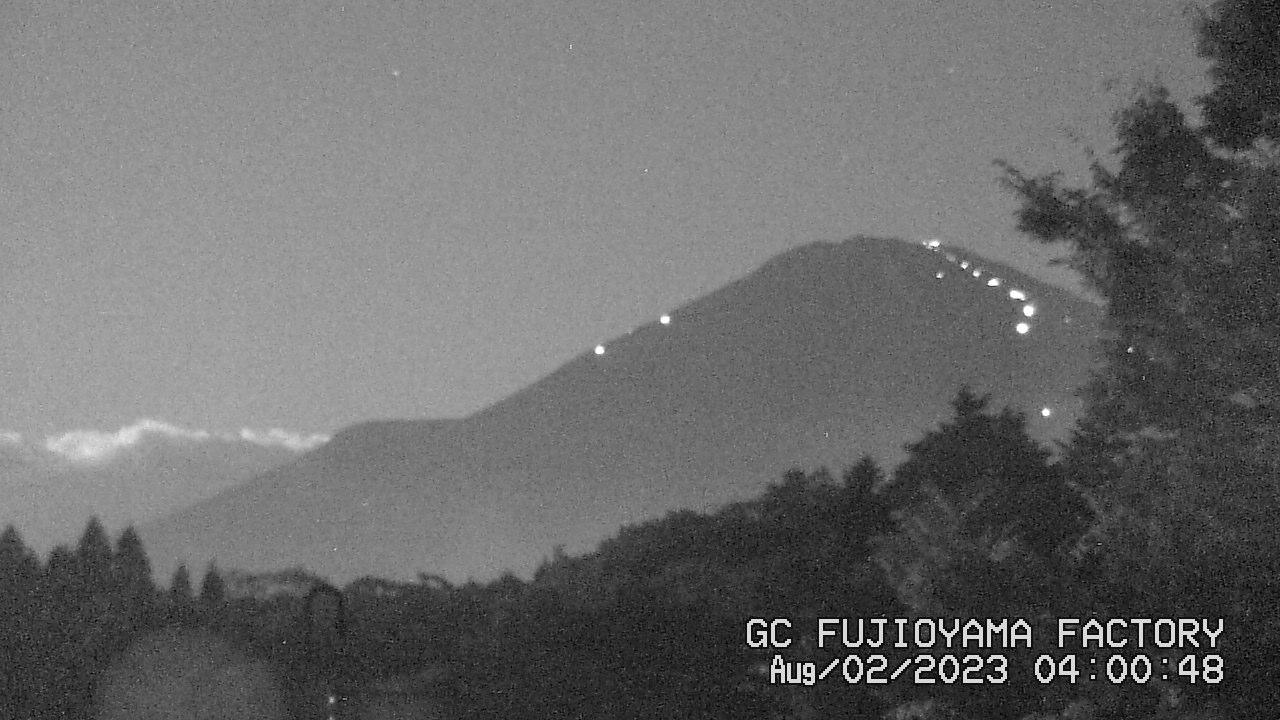 今日の富士山:2日前 AM04:00