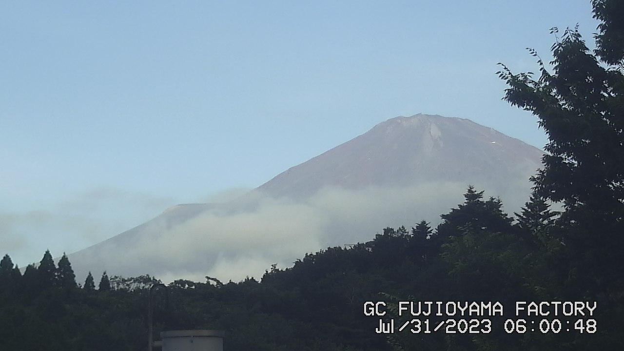 今日の富士山:3日前 AM06:00