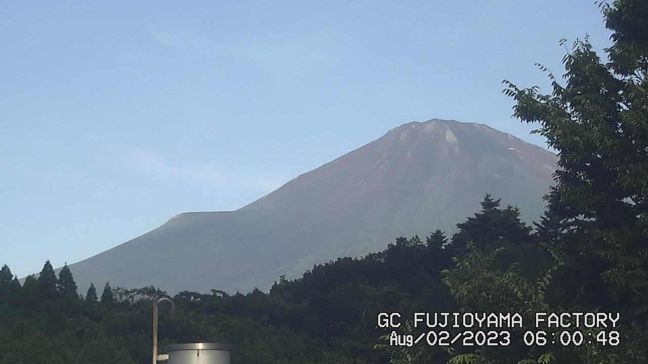 今日の富士山:4日前 AM06:00
