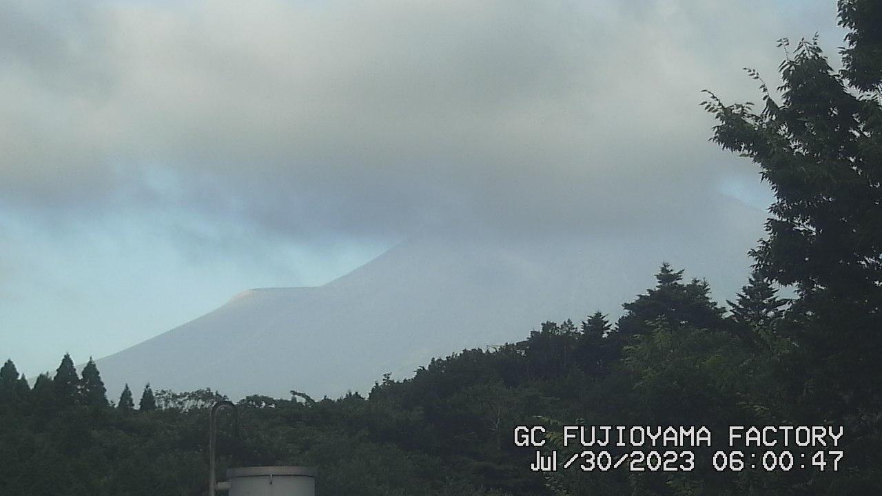 今日の富士山:6日前 AM06:00