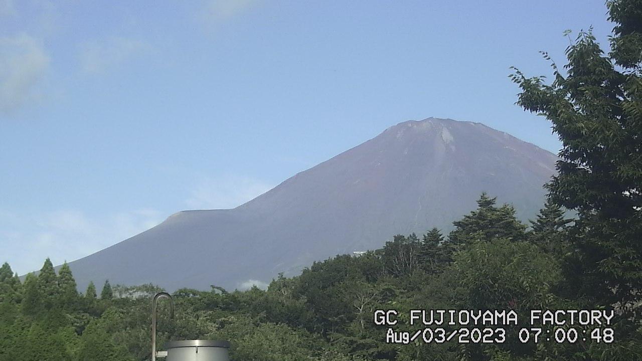 今日の富士山:3日前 AM07:00