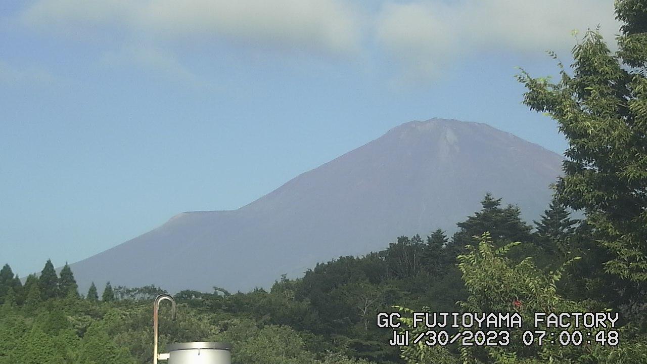 今日の富士山:5日前 AM07:00