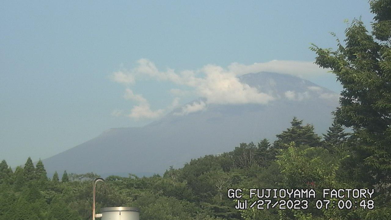 今日の富士山:6日前 AM07:00