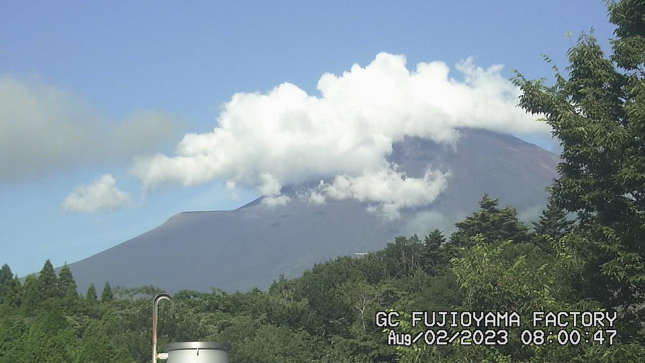 今日の富士山 AM08:00