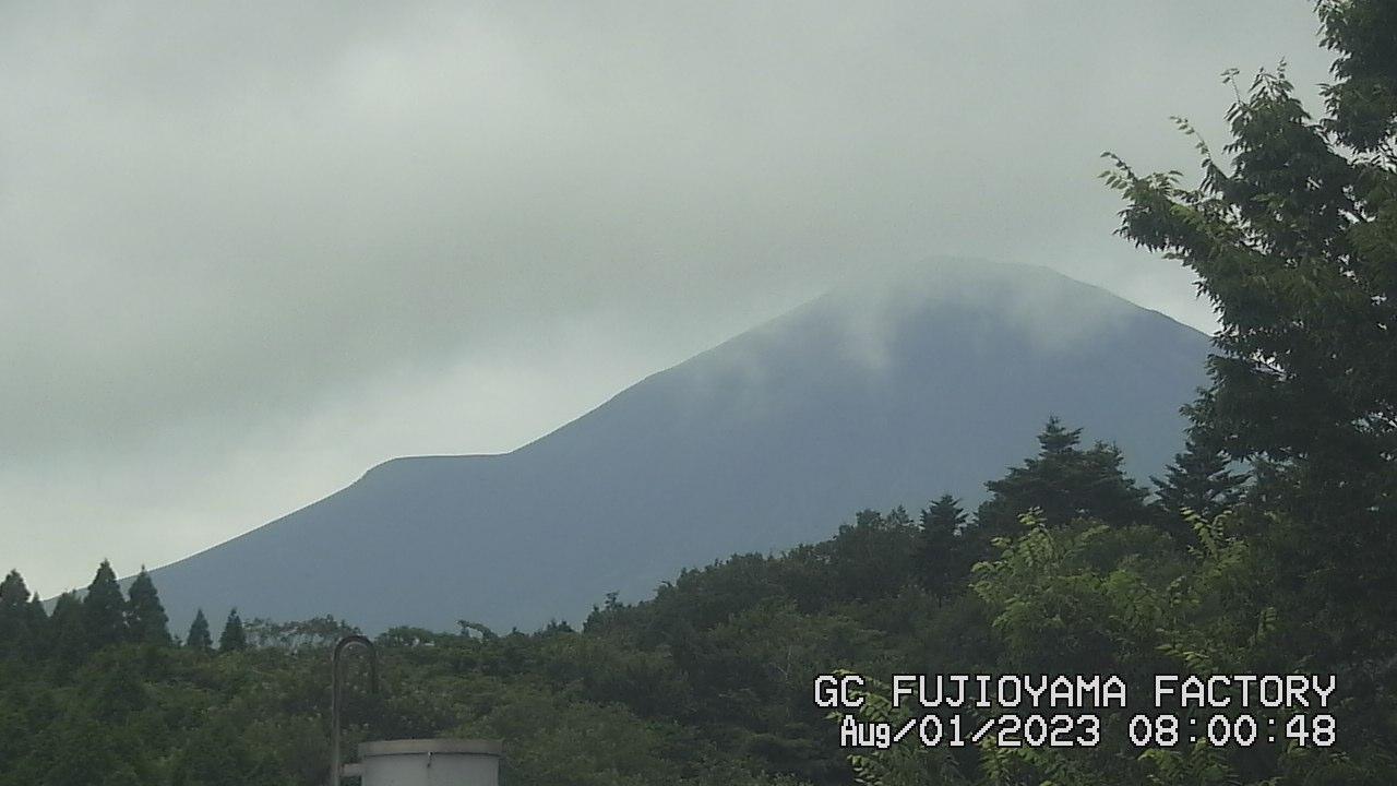 今日の富士山:3日前 AM08:00
