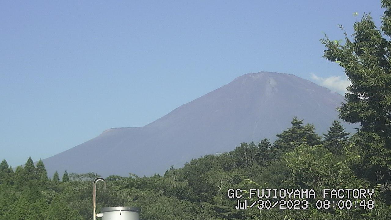 今日の富士山:4日前 AM08:00